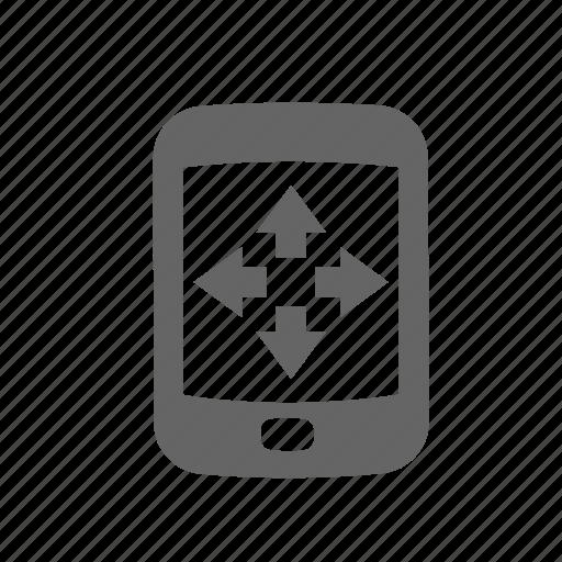 arrows, controller, joystick, mobile, remote, wireless icon