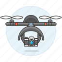 aerial, aircraft, camera, drone, uav, unmanned, vehicle icon