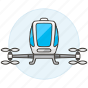 passengers, aircraft, aerial, vehicle, drone, taxi icon