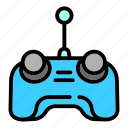 car, control, drone, hand, remote, technology, toy icon