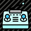 cartoon, control, drone, hand, medical, radio icon