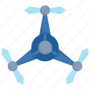 aerial, aircraft, copter, drone, fly, helicopter, propeller icon