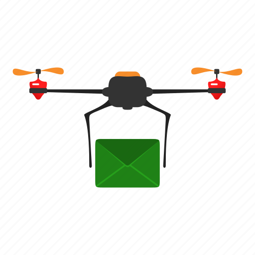 copter, delivery, drone, mail, message, quadcopter icon