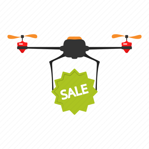 copter, delivery, drone, nanocopter, quadcopter, sale icon