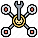 equipment, fixing, maintenance, repair, technician icon