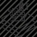 energy, layers, ocean, oil, platform, rig, stack