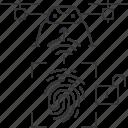 drone, fingerprint, id, signal, uav, unlock
