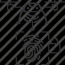 drone, fingerprint, id, lock, secure, uav