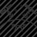 drone, satellites, signal, uav
