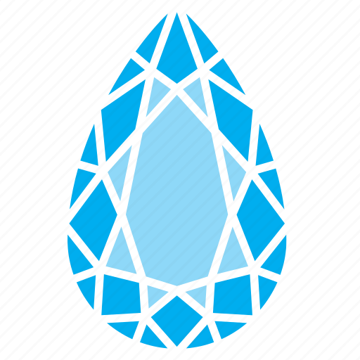 brittle, diamond, drop, droplet, raindrop, water icon