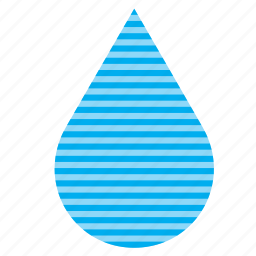 drop, droplet, raindrop, stripes, water icon