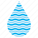 drop, droplet, raindrop, sea, water icon
