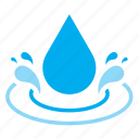 drop, droplet, raindrop, splash, water icon