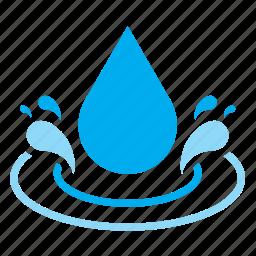 drop, droplet, raindrop, splash, water icon