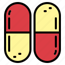capsules, doctor, hospital, medicine icon