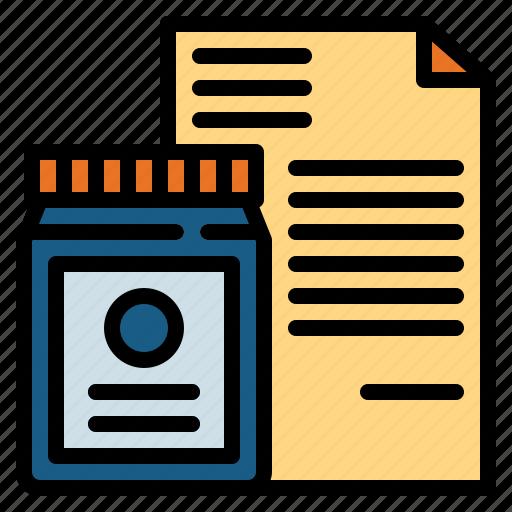 Document, medicine, pharmacy, prescription icon - Download on Iconfinder