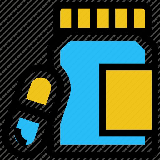 Bottle, capsule, drugs, medicine, pharmacy, pills bottle icon - Download on Iconfinder