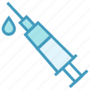 drop, drugs, injection, syringe, vaccine icon