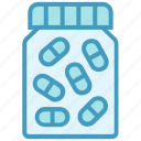 bottle, capsules, drugs, medicine, pharmacy, pills bottle icon