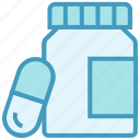 bottle, capsule, drugs, medicine, pharmacy, pills bottle icon