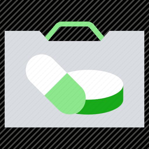 bag, drugs, medicine, pharmacy, pills bag icon