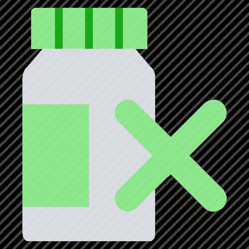 bottle, drugs, expire, medicine, pharmacy, pills bottle, reject icon
