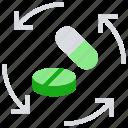 arrows, drugs, healthcare, medicine, pharmacy, pills, sync