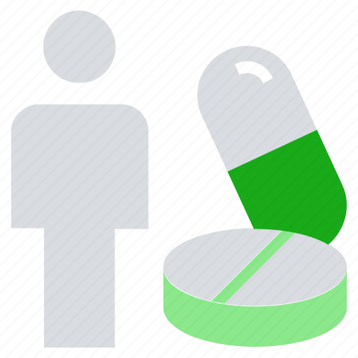 drugs, healthcare, medicine, person, pharmacy, pills, tablets icon