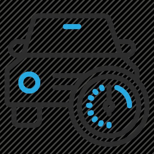 automobile, car, optimize, speed, transport, vehicle icon
