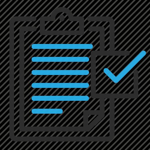 checklist, checkmark, clipboard, organize, organizer, report, tick icon