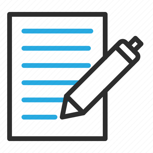 document, edit, file, paper, pen, write icon