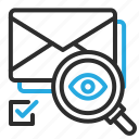 analyze, check, email, envelope, find, mail, search icon