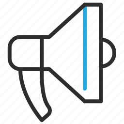 announce, announcement, marketing, megaphone icon