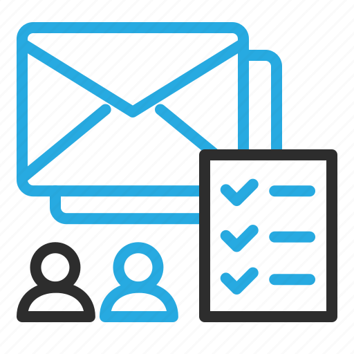 checklist, email, group, mail, marketing, newsletter, users icon