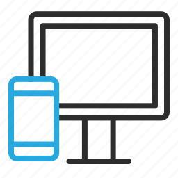 communication, mobile, monitor, phone, responsive, smartphone icon