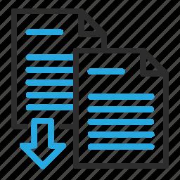 combine, documents, export, files, merge icon
