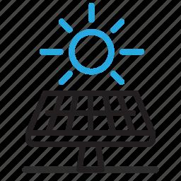 energy, green, power, renewable, solar icon