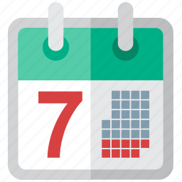 calendar, date, day, event, future, grid, history, month, old, perspective, plan, schedule, seven, time, today, tomorrow, valentines, wall, week, year, yesterday icon