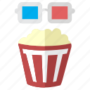 3d film, cinema, corn, film, media, movie, multimedia, pop corn, stereo, theater, video icon