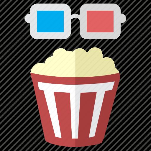 3d film, cinema, corn, film, media, movie, multimedia, pop corn, stereo, theater, video icon