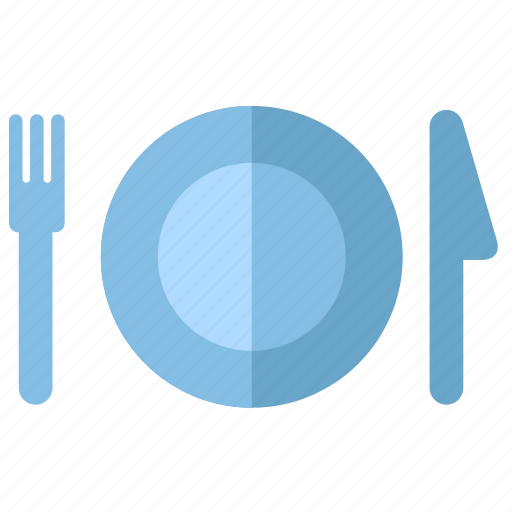 cook, cooking, dinner, eating, food, fork, kitchen, knife, launch, plate, restaurant icon