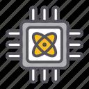 chip, gadget, chipset, technology, quantum, computing icon