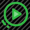 audio, music, play, ui, user interface, video icon