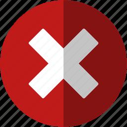 cancel, close, control, cross, delete, minus, remove, stop, trash icon