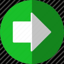 arrow, arrows, direction, follow, following, forward, go, move, next, right, send, shift, transfer icon