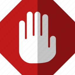 alert, attention, cancel, control, danger, error, exclamation, hand, problem, red alert, safety, stop, terminate, warning icon