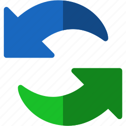 arrows, refresh, reload, rotate, rotation, sync, synchronize, update icon