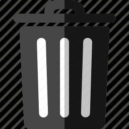 bin, del, delete, dustbin, empty, erase, full, garbage, recycle bin, remove, trash icon
