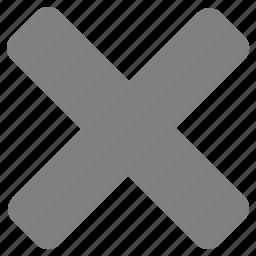 close, delete, disable, empty, erase, exit, remove icon