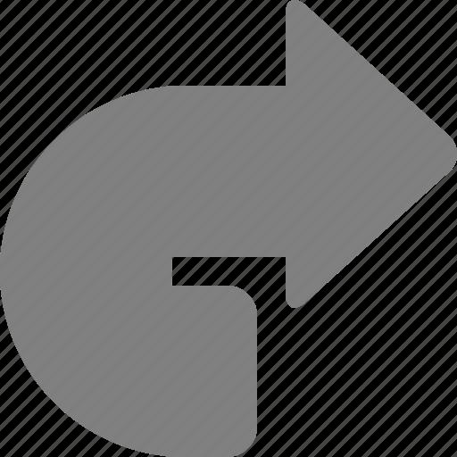 arrow, forward, navigation, next, redo, right, rotate icon